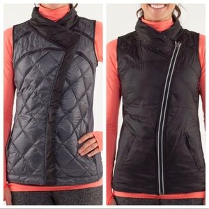 LULULEMON What The Fluff Reversible Vest, Black, 8